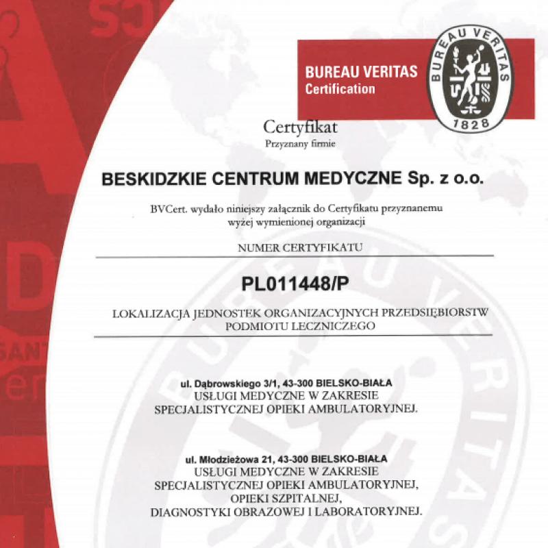 certyfikat dla BCM